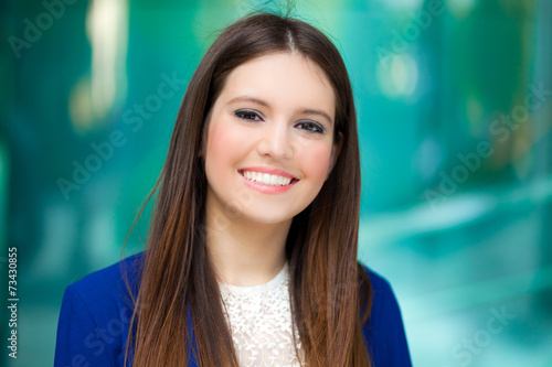 canvas print picture Young businesswoman