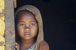Leinwanddruck Bild - Madagascar-shy and poor african girl with headkerchief