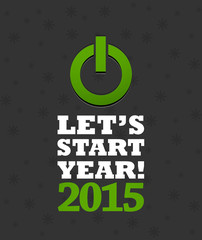 2015 new year countdown button