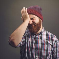 Funky bearded man