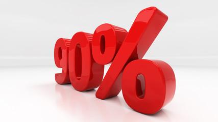 3D ninety percent