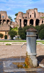 Drinking water fountain in Rome, Italy