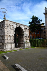 The Arch of Janus a quadrifrons triumphal arch in Rome