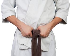 White kimono belt edge