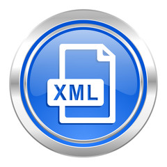 xml file icon, blue button