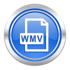wmv file icon, blue button