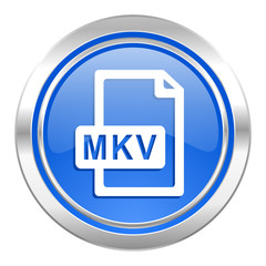 mkv file icon, blue button