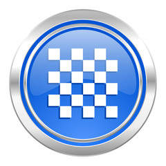 chess icon, blue button