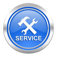 service icon, blue button
