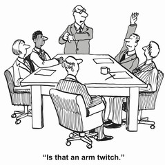 """Is that an arm twitch."""