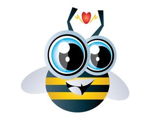 zakochana pszczoła