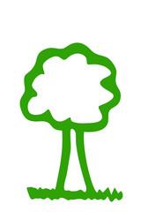 grüner Baum...Silhouette