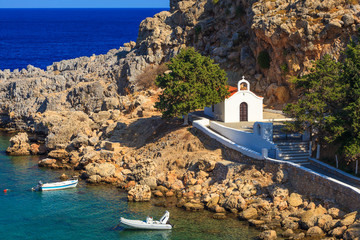 Church at Lindos Rhodes Greece