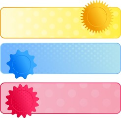 Polka Dot Web Banners