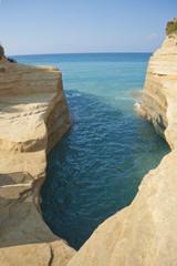 Beautiful coast of Corfu island