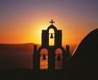 canvas print picture - Kapelle auf Santorin