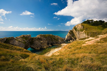 Jurassic Coast near Lulworth in Dorset, UK.