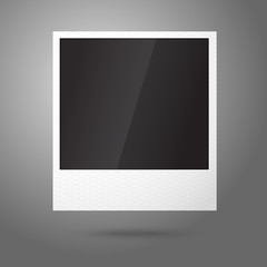 Blank vector instant photo frame in the air. Template for your