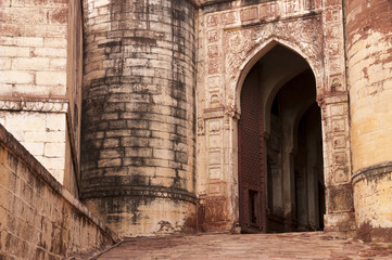 Entry gate to Mehrangarh fort, Jodhpur, India