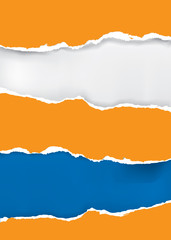 Orange and blue grunge background