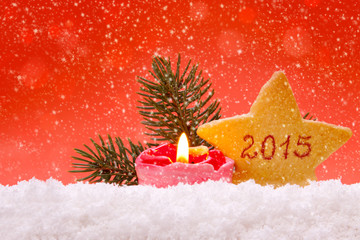 2015 New Year Colorful Background.