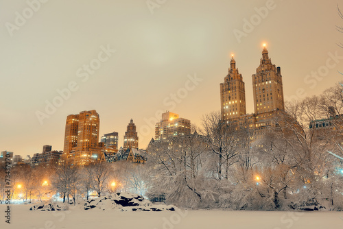 Leinwanddruck Bild Central Park winter
