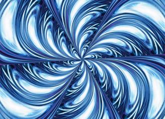 blue kaleidoscope motion pattern. space flower shape
