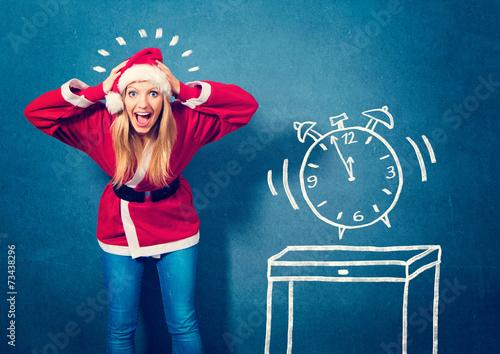 Santagirl with clock five to twelfe - Santagirl 08 - 73438296