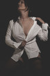 sexy business woman, beautiful young sexy white shirt