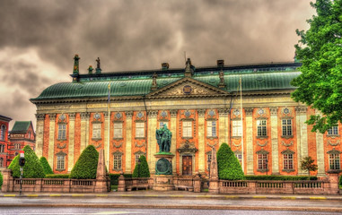 Statue of Gustav Vasa in front of House of Nobility in Stockholm