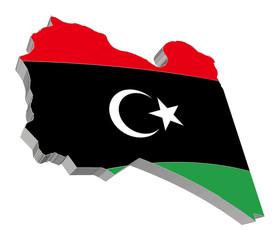 Libya 3D Map Vector Very Detailed