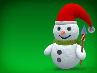 3D - Snowman - Shot 17
