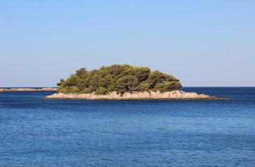 Small island on the Adriatic sea, Peljesac, Croatia
