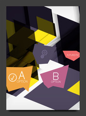 Abstract modern flyer - brochure template