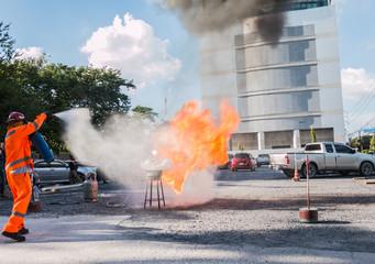 Fire drill in bangkok thailand