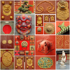 chinese culture  collage ( images fromm Beijing)