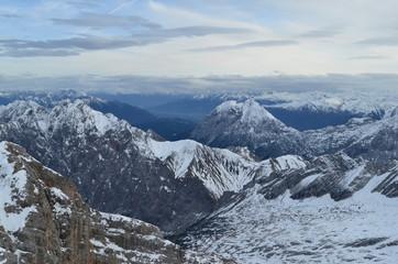 zugspitze wettersteingebirge im herbst