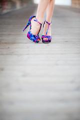 flirty pose in high heels
