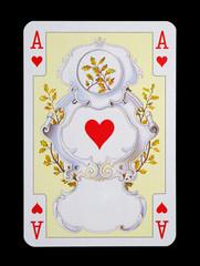 Spielkarten in Luxus und Nostalgie - Herz Ass