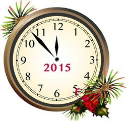 Clock New Year 2015
