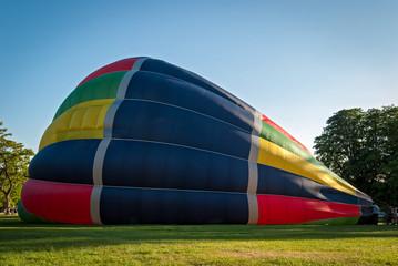 Inflating a hot-air balloon