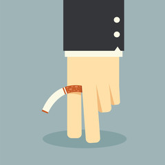 No smoking business hand