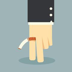No smoking business hand