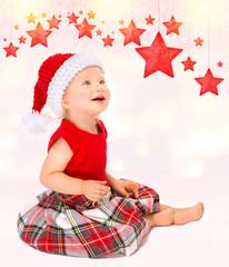 Cute happy Santa girl