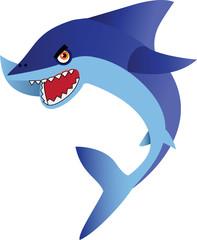 Shark Cartoon Illustration