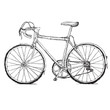 Vintage road bicycle hand drawn illustration - 73442419