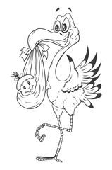 Stork New Born baby