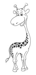 Girafe Cartoon Illustration