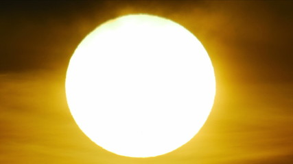 The sun close up telescope view, sunspots are seen!