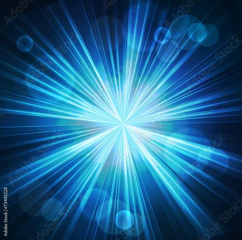 Deurstickers Licht, schaduw Abstract starburst light background